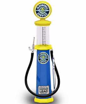 Cylinder Gas Pump Oldsmobile Service, Blue - Yatming 98702 - 1/18 scale diecast model