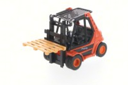 "Action Fork Lift Truck, Orange - Welly 92010/6D - 5.5"" Long  Collectible Model"