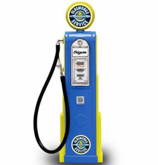 Digital Gas Pump Oldsmobile Service, Blue - Yatming 98701 - 1/18 scale diecast model