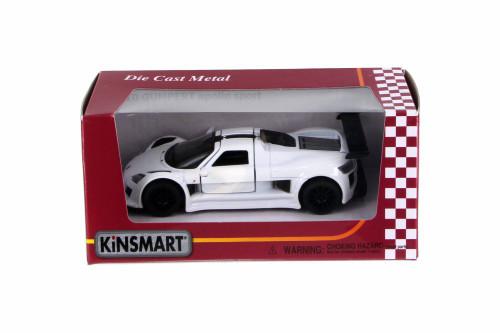 2010 Gumpert Apollo Sport, White - Kinsmart 5356W - 1/36 Scale Diecast Car