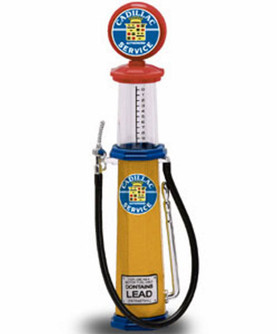 Cylinder Gas Pump Cadillac, Yellow - Yatming 98692 - 1/18 scale diecast model