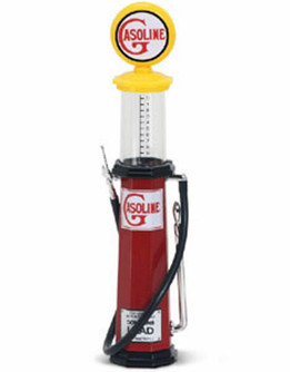 Cylinder Gas Pump Gasoline, Red - Yatming 98622 - 1/18 scale diecast model