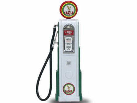 Digital Gas Pump Eagle 1, White - Yatming 98611 - 1/18 scale diecast model