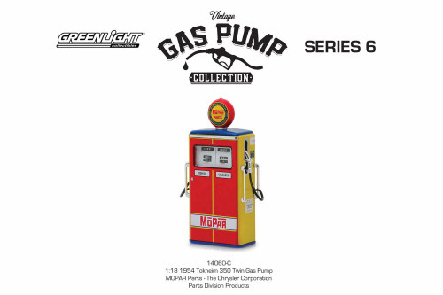 1954 Tokheim 350 Twin Gas Pump, MOPAR Parts - Greenlight 14060C/24 - 1/18 scale Diecast Model Accessory