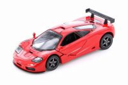 1995 McLaren P1 GTR Hardtop, Red - Kinsmart 5411D - 1/36 scale Diecast Model Toy Car