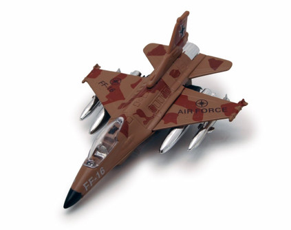 Air Force FF-16, Tan & Brown - Showcasts 8115/8D - Diecast Model Toy Car