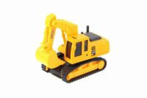 Excavator Heavy Construction Machine, Yellow - Showcasts 2188D - Model Toy Car