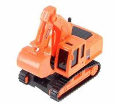 Excavator Heavy Construction Machine, Orange - Showcasts 2188D - Model Toy Car