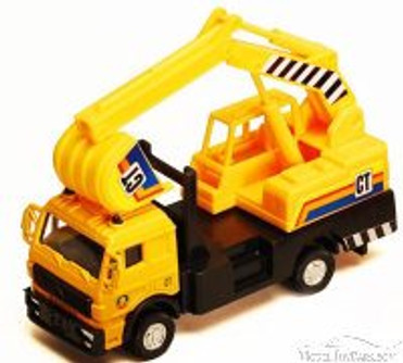 Excavator, Yellow - Showcasts 9531/4D - 4.5 Inch Scale Diecast Model Replica