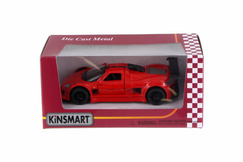 2010 Gumpert Apollo Sport, Red - Kinsmart 5356W - 1/36 Scale Diecast Car