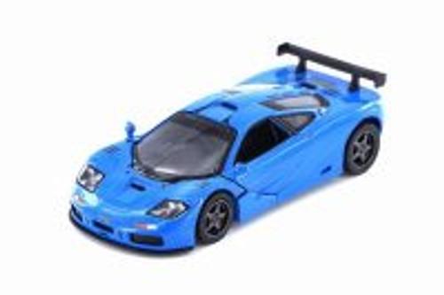 1995 McLaren P1 GTR Hardtop, Blue - Kinsmart 5411D - 1/36 scale Diecast Model Toy Car