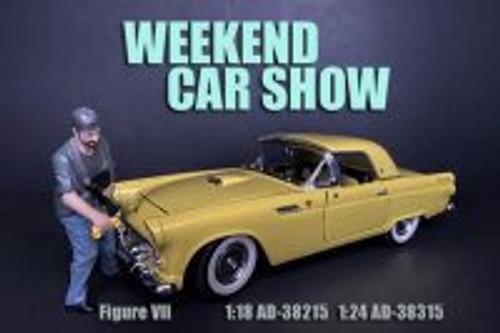 Weekend Car Show Figure VII, Blue and Gray - American Diorama 38315 - 1/24 scale Figurine - Diorama Accessory