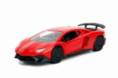2017 Lamborghini Aventador SV Hard Top, Red - Jada 30112DP1 - 1/32 scale Diecast Model Toy Car