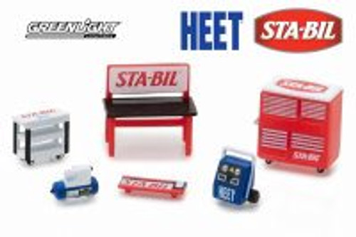 Muscle Shop Tools Sta-Bil & Heet, Red - Greenlight 13165/48 - 1/64 scale Diecast Model Toy Car
