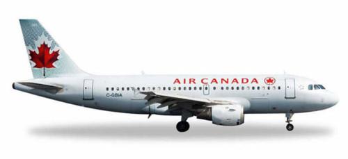 Air Canada A319, White - Herpa HE528795 - 1/500 Scale Diecast Plane Replica