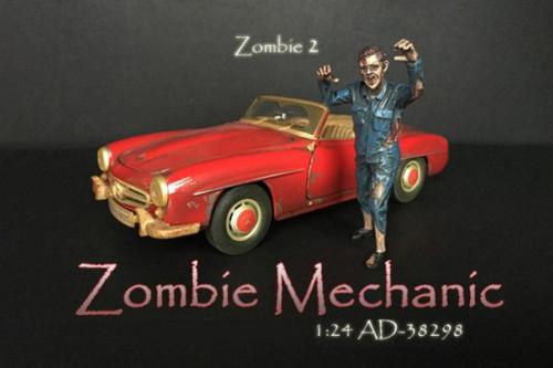 Zombie Mechanic II, Blue - American Diorama 38298 - 1/24 scale Figurine - Diorama Accessory