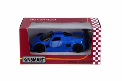 2010 Gumpert Apollo Sport, Blue - Kinsmart 5356W - 1/36 Scale Diecast Car