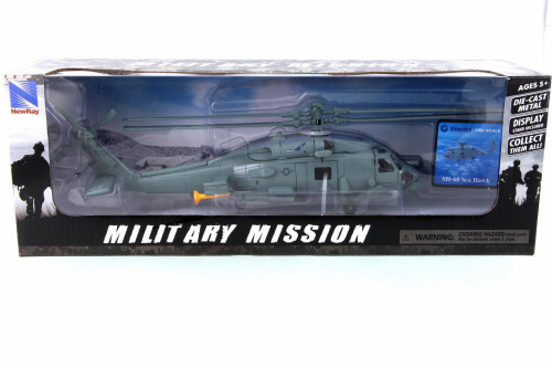 Sikorsky SH-60 Sea Hawk, Blue Gray - New Ray 25587 - 1/60 Scale Diecast Model Toy Car
