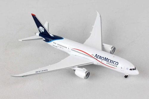 Aero Mexico 787-8, White - Herpa HE529815 - 1/500 Scale Diecast Plane Replica