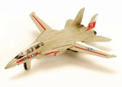 Northrop Grumman F-14 Tomcat, Gray w/ Red Detail - Motor Max 77000DT/A5 - Diecast Model Toy Car