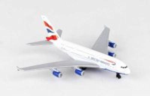 British Airways A380 AirBus Single Plane, White - Daron RT6008 - Toy Model Plane Replica