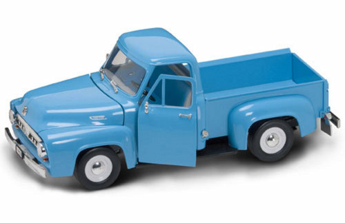 1953 Ford F-100 Pick Up, Dark Blue - Yatming 92148 - 1/18 Scale Diecast Model Toy Car