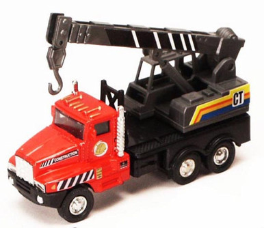 Power Construction Truck - Crane Hook, Red & Black - Showcasts 9961/4D - 5.25 Inch Scale Diecast Model Replica