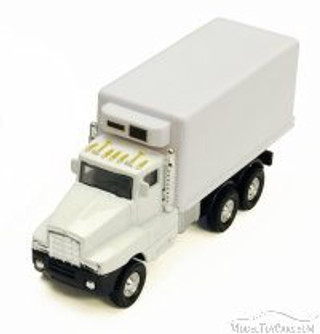 Super Transporter w/ Refrigerator, White - Showcasts 9912/3RW - 5.5 Inch Scale Diecast Model Replica