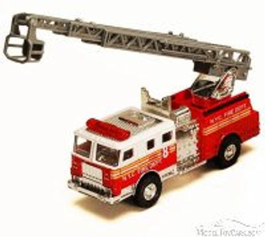 NYC Fire Engine w/ Rescue Ladder, Red - Showcasts 9923/4D - 4.75 Inch Scale Diecast Model Replica (Brand New, but NOT IN BOX)