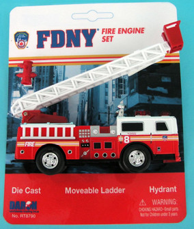 FDNY Ladder Truck, Red - Daron RT8790 - Diecast Model Toy Car