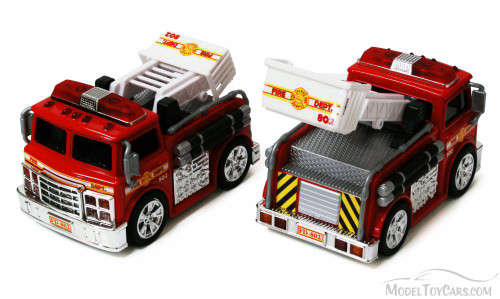 Chubby Champs Fire Engine, Red - 88002 - Collectible Model Toy Car