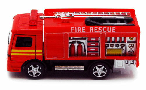 "Rescue Fire Engine, Red - Kinsmart 5110D - 5"" Diecast Model Toy Car"