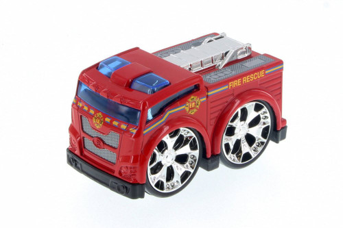 Super Engine Rescue Racer Fire Engine, Red 78401D - Motor Max Showcasts 78401/3D - Diecast Model Toy Car