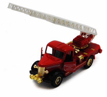 Classic Firetruck, Red w/ Gold Detail - Showcasts 504D - Diecast Model Toy Car
