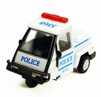 NYC Metro Police Mini Car, White - Showcasts 2180DNY - 4 Inch Scale Diecast Model Replica (Brand New, but NOT IN BOX)