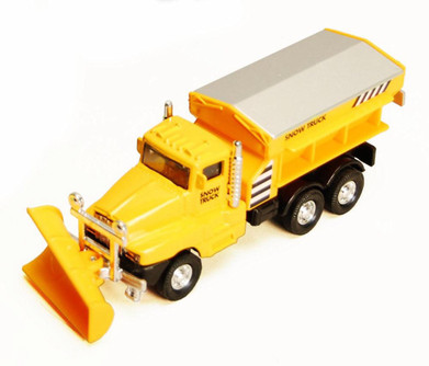 Snow Plow Truck, Yellow - Showcasts 9915D - 5.75 Inch Scale Diecast Model Replica (Brand New, but NOT IN BOX)