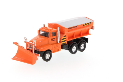 Snow Plow Truck, Orange - Showcasts 9915D - 5.75 Inch Scale Diecast Model Replica (Brand New, but NOT IN BOX)