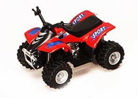 "Smart ATV, Red - Kinsmart 3506D - 3.5"" Diecast Model Toy Car (Brand New, but NOT IN BOX)"