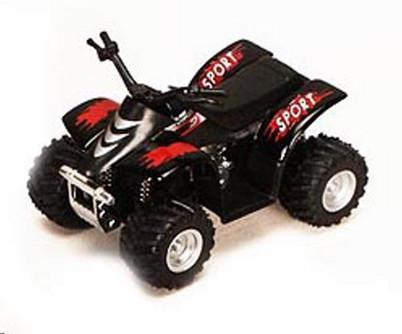 """Smart ATV, Black - Kinsmart 3506D - 3.5"""" Diecast Model Toy Car (Brand New, but NOT IN BOX)"""