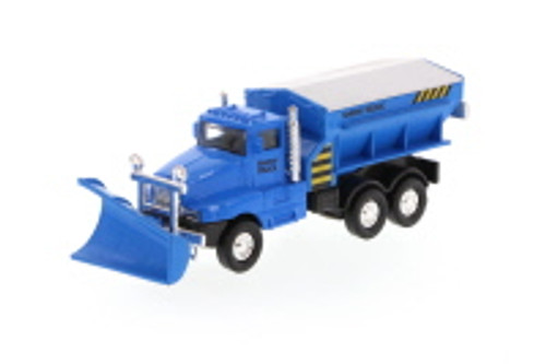 Snow Plow Truck, Blue - Showcasts 9915D - 5.75 Inch Scale Diecast Model Replica (Brand New, but NOT IN BOX)