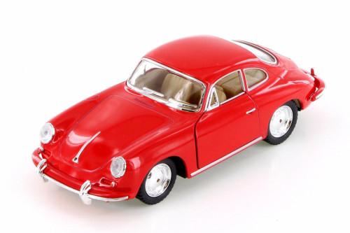 Porsche 356 B Carrera 2 Hard Top, Red - Kinsmart 5398D - 1/32 scale Diecast Model Toy Car