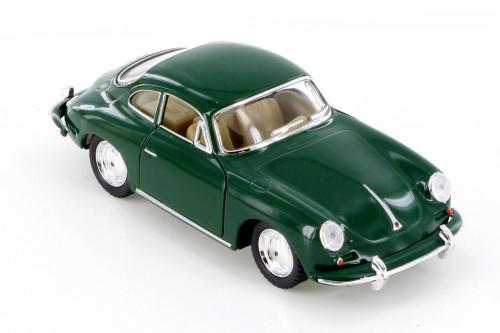 Porsche 356 B Carrera 2 Hard Top, Green - Kinsmart 5398D - 1/32 scale Diecast Model Toy Car
