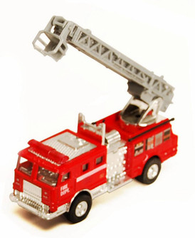 Fire Engine, Red - Showcasts 9921/4D - 4.75 Inch Scale Diecast Model Replica