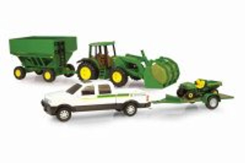 John Deere Mega Hauling Set, White - TOMY 45363 - Toy Car