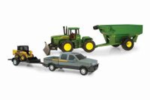John Deere Mega Hauling Set, Gray - TOMY 45363 - Toy Car