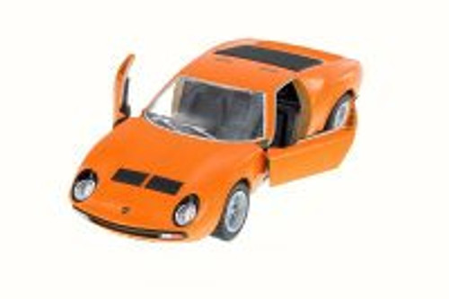 1971 Lamborghini Miura P400 SV, Orange - Kinsmart 5390W - 1/34 Scale Diecast Model Toy Car