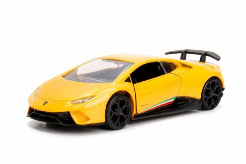 2017 Lamborghini Huracan Performante Hard Top, Yellow - Jada 30108DP1 - 1/32 scale Diecast Model Toy Car