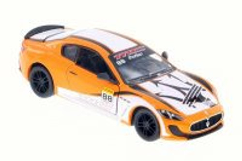 2016 Maserati Grand Turismo MC Stradale with Decals Hard Top, Orange w/ Decals - Kinsmart 5395DF - 1/38 Scale Diecast Model Toy Car