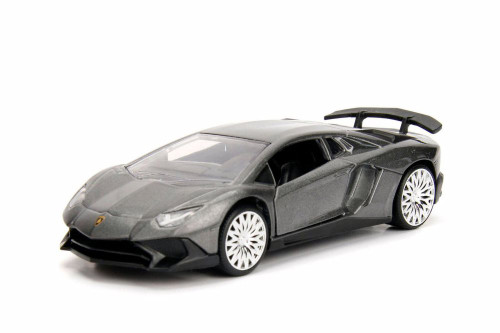 2017 Lamborghini Aventador Hard Top, Gray - Jada 30109WA1 - 1/32 scale Diecast Model Toy Car