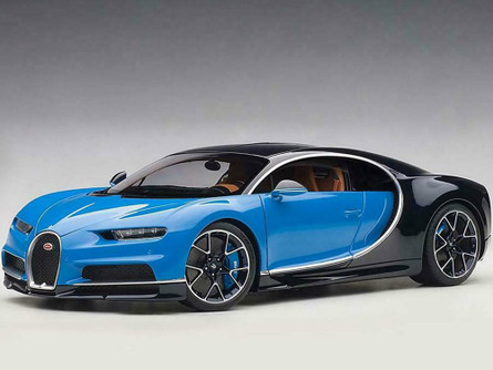 2017 Bugatti Chiron, French Racing Blue and Atlantic Blue - AUTOart 70993 - 1/18 Scale Diecast Model Toy Car